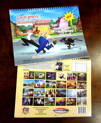 2 Year Generic Missionary TOONS calendar