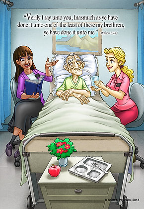 Sisters Visiting the Sick, Greeting Card, (5 x 7)