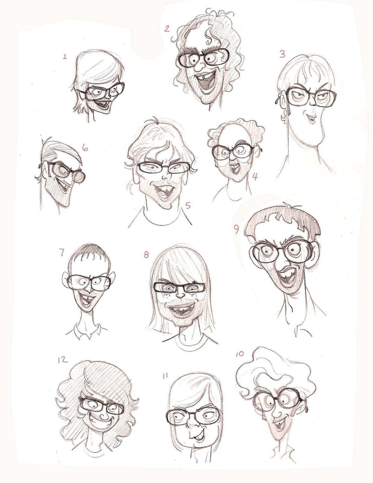 Faces sheet by Golden Street Anim