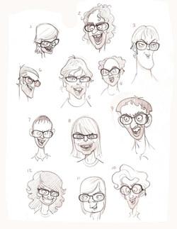 Faces sheet by Golden Street Anim