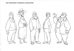 Character line up by GSAP