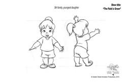 Little girl by Golden Street Anim.