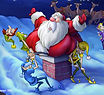 Christmas cards, Holiday greeting cards, Scott T. Petersen artwork, Santa and his elves
