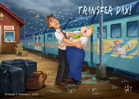 Transfer Day, Greeting Card, (5 x 7)