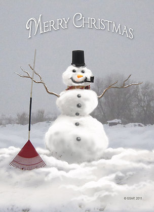 Country Snowman, Greeting Card (5 x 7)