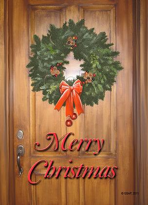 Christmas Wreath, Greeting Card (5 x 7)
