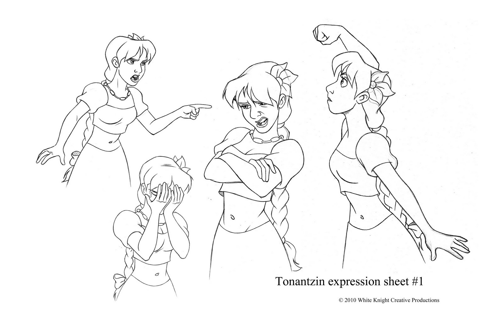 Character poses (female)