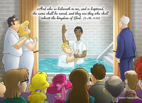 Family Baptism, Greeting Card (5 x 7)