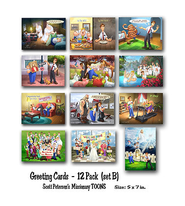 Greeting Cards 12 pack (set B)