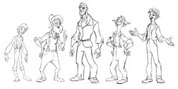 Character line up sheet