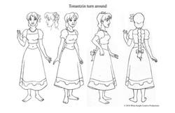 Female turn around by GSAP