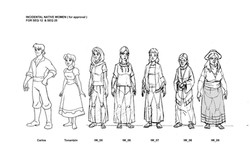 Character line up by Golden Street