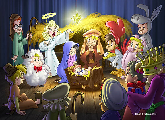 Christmas pageant, Greeting Card (5 x 7)