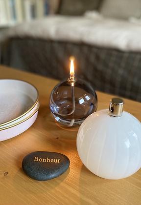 Lampe sphère à huile