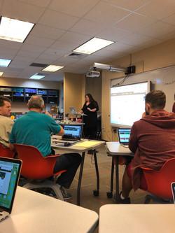 Teachers learn Google Suite