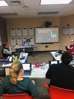 Teachers learn VoiceThread.