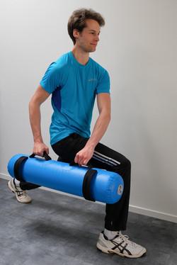 Sportfysiotherapie met aquabag