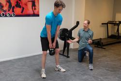 Sportfysiotherapie met kettlebell