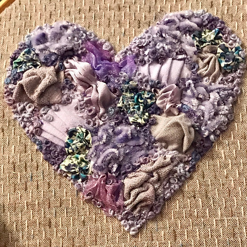 Manipulated Fabric Heart - Saturday 18th August 2018, 10am to 4pm