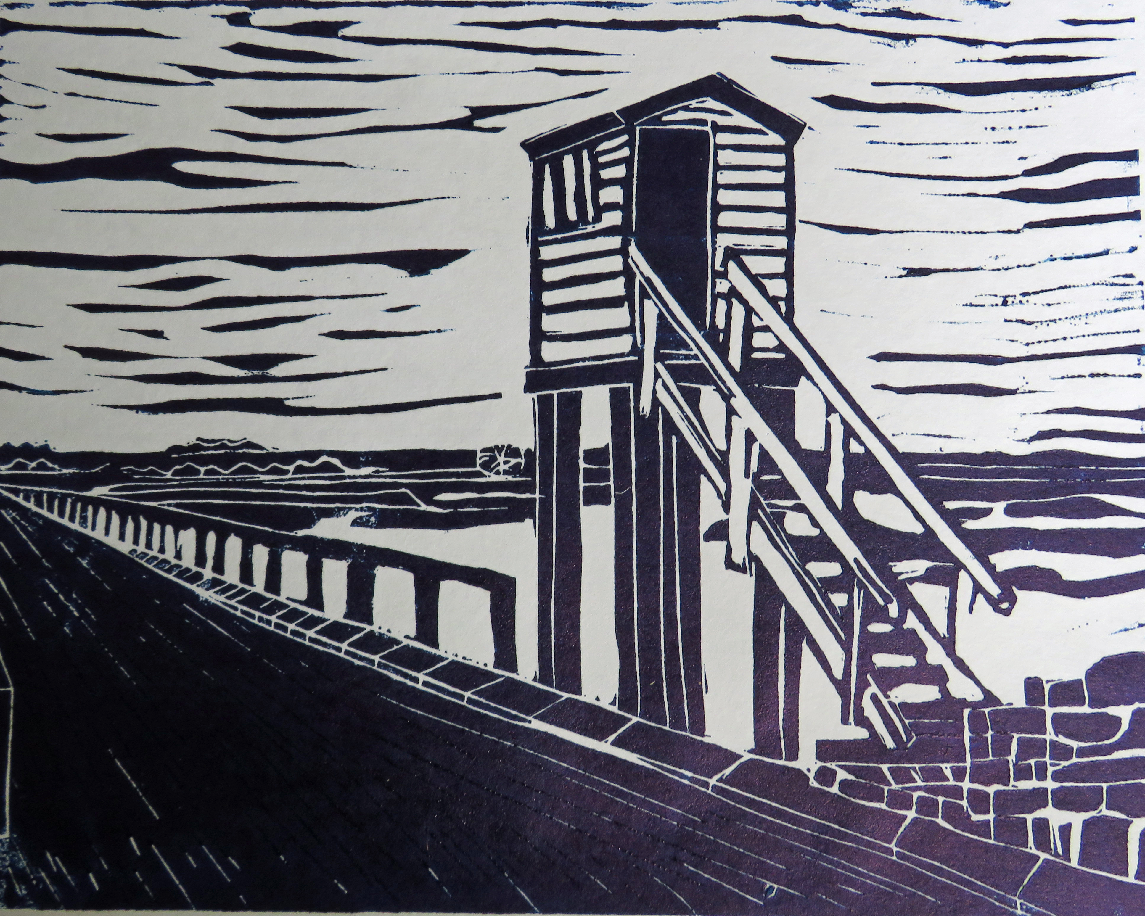 The Refuge Hut, Lindisfarne Causeway