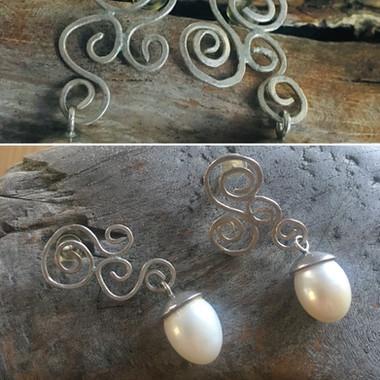 Ohrringe .... Perlen