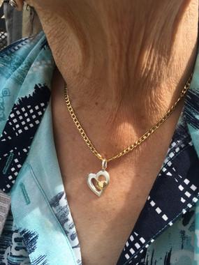 Herz Anhänger... Silber/Gold