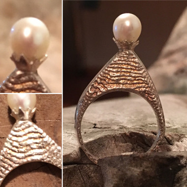 Ring... Ossa Sepia Guss mit Perle