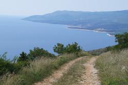 Richtung Bucht von Rabac
