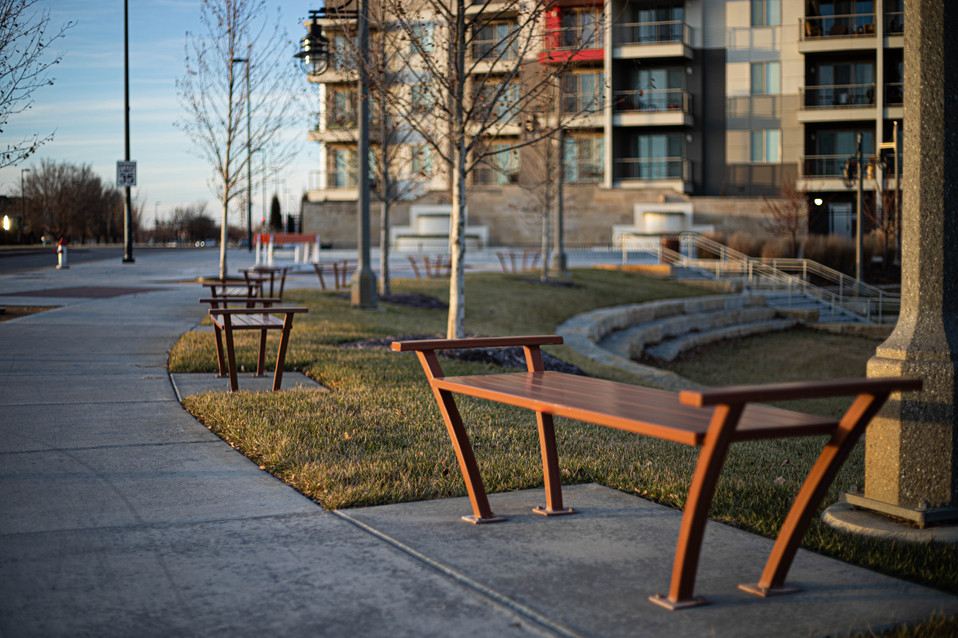 Decorative Painted Steel Benches