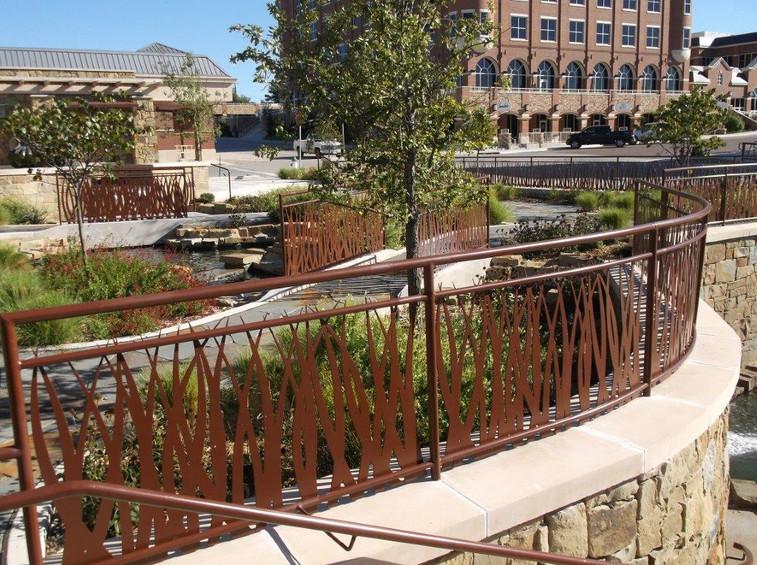 Decorative Painted Steel Handrail