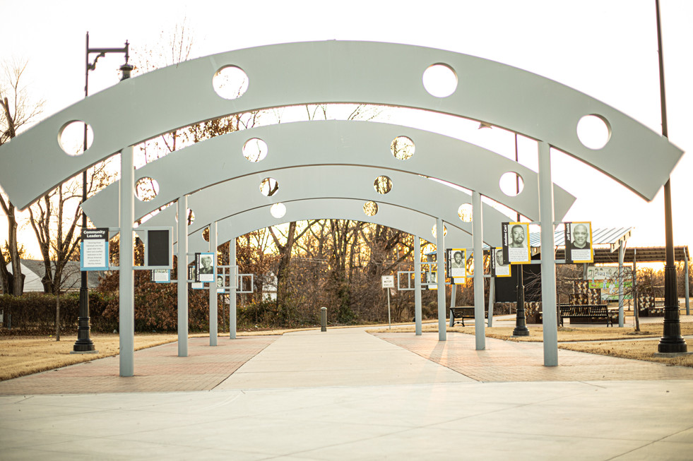 Decorative Painted Steel Arches