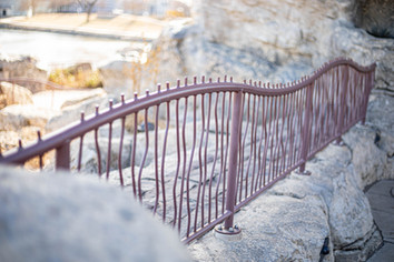 Painted Steel Decorative Handrail