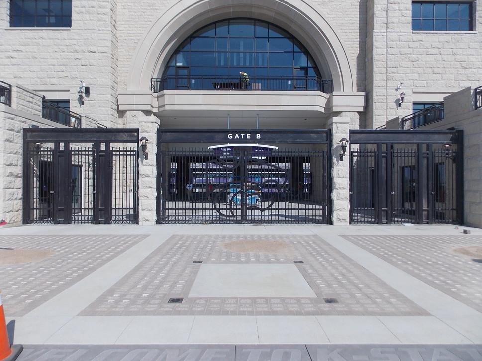 Painted Steel Gates with Plasma Cut Decoration