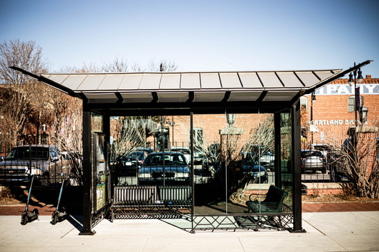 Painted Steel and Aluminum Bus Shelter