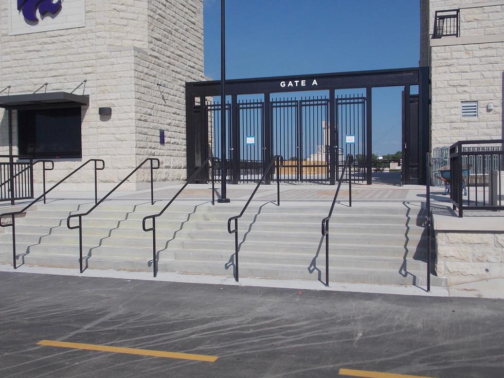 Painted Steel Handrail & Painted Steel Gates