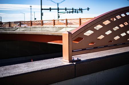 Decorative Painted Steel Guardrail