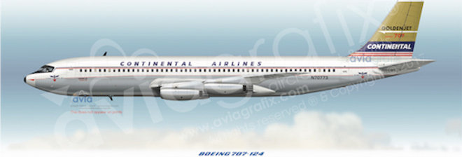 Continental Airlines - Boeing 707-124 N70773