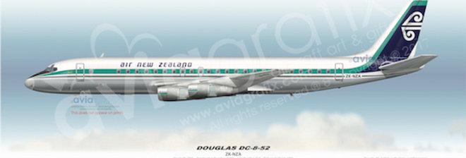 Air New Zealand - Douglas DC-8-52 ZK-NZA - 1973 Livery