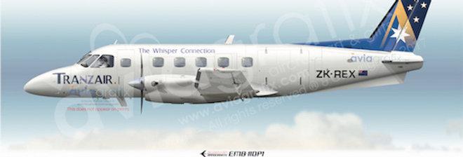 Tranzair - Embraer EMB-110P1 ZK-REX - 1996 Livery
