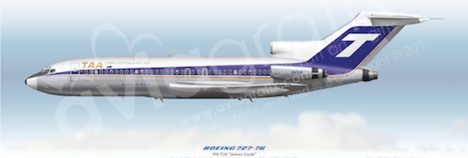 TAA - Boeing 727-76 VH-TJA - 1970 Livery