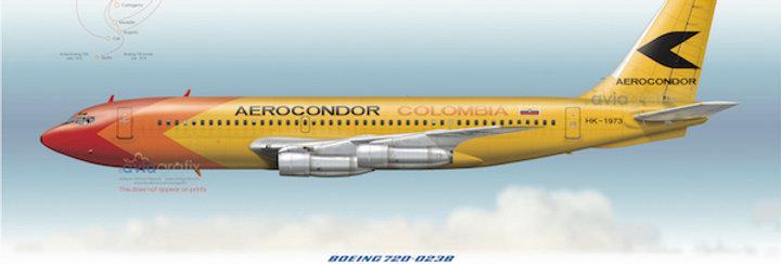 Aerocondor - Boeing 720-023B HK-1973 - 1972 livery