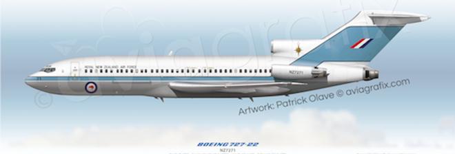 RNZAF - Boeing 727-22C NZ7271 - 1994 Livery