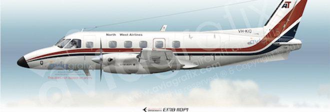 North West Airlines - Embraer EMB-110P1 VH-KIQ