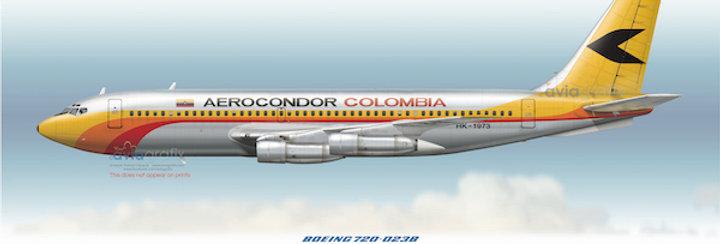 Aerocondor - Boeing 720-023B HK-1973 - 1975 livery