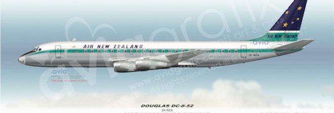 Air New Zealand - Douglas DC-8-52 ZK-NZA - 1967 Livery