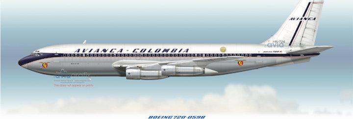 AVIANCA - Boeing 720-059B HK-724 - 1969 Livery