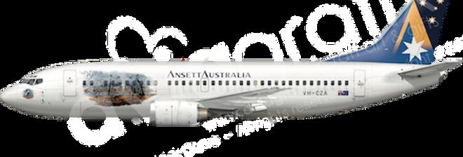 Ansett Australia - Boeing 737-377 - WM any5combo