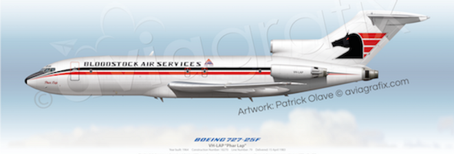 Bloodstock Air Services - Boeing 727-25F VH-LAP