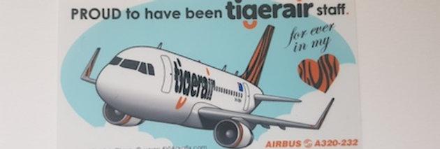 "Tigerair - A320 - ""Pride"" Cartoon Sticker"