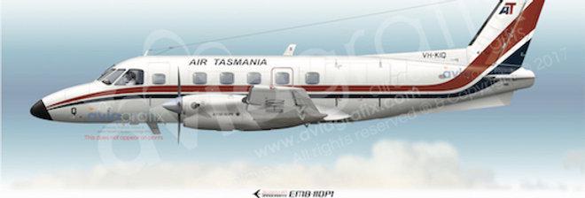 Air Tasmania - Embraer EMB-110P1 VH-KIQ - 1980 Livery